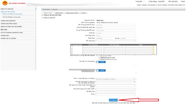Quy trình đăng ký app cung cấp dịch vụ tmđt