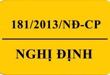 Nghị Định 181/2013/NĐ-CP